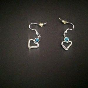 Blue of Hearts earrings